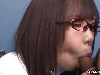 Japanese honey, Mikuru Mio sucks dick to get hired, uncensor