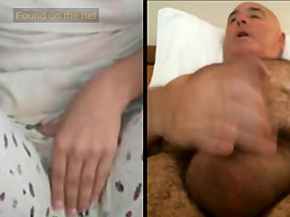 Man masturbates watching pajama girl
