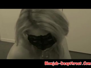 Masked Girlfriend Giving Her Best Deepthroat