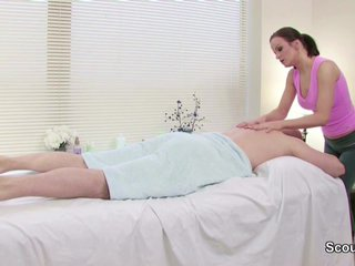 Client Seduce Teen Masseuse to Fuck for Money