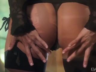 Babes- Solo star Celeste Star masturbates in lingerie