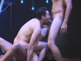 Foursome piss play, fucking and double penetration