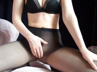 Pantyhose JOI Masturbation