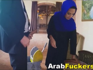 Nervous Arab Refugee Given Cash For Sucking Massive Dick