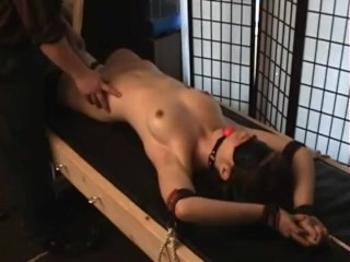 sexy 18 year old brunette gets tied up, tickled and vibed