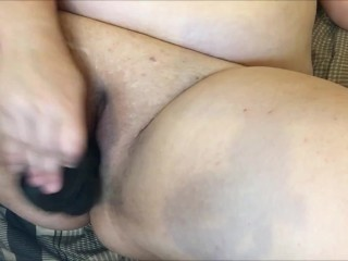 Chubby Cutie Fucks Herself With A BBC Dildo