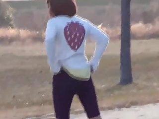 Japanese Girl Pissing In Park