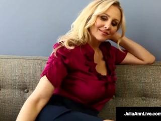 Bad Teacher Milf Julia Ann Shows You POV Naughty Pussy Rubs!
