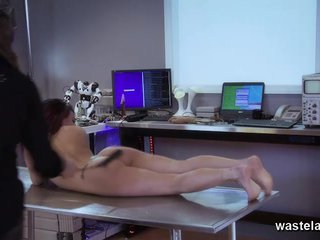 Brunette brought to orgasm by Master