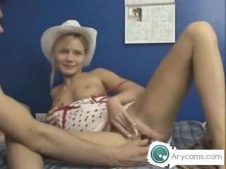 Young couple doing anal on cam
