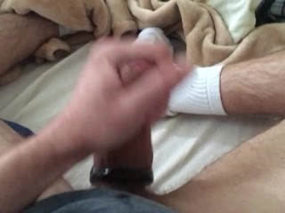 Fat cum while watching bare porn