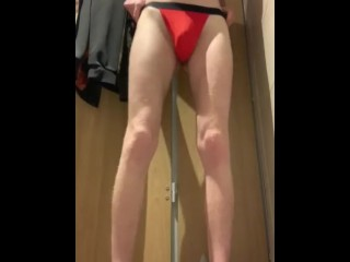 YOUNG TWINK STRIPS TO THONG IN GYM CHANGING ROOM