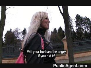 PublicAgent – Blonde fucked in public toilets