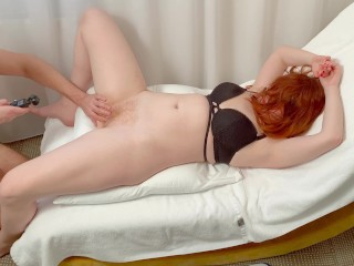 My Loud Orgasm from his Licking Creampie Cum Mess on My Hairy Ginger Pussy