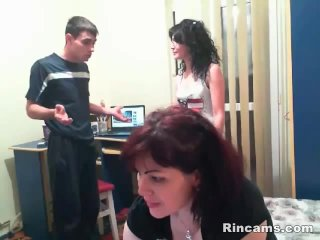 Two single moms fucking with younger man