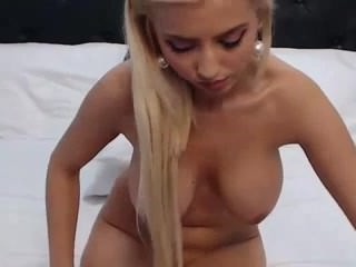 Blonde princess teases