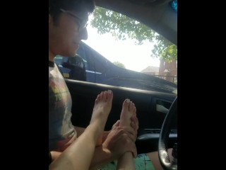 Foot Worship with 19 year old Brat pt2