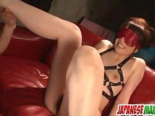 Rough maledom porn scenes along Nagisa Uemats