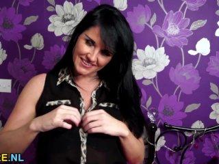 Hot British MILF fingering herself