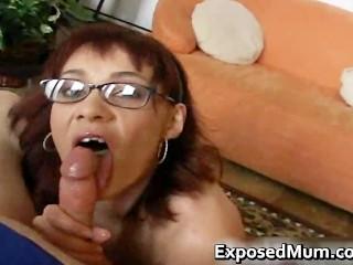 Redhead mom licking balls and deepthroat part1