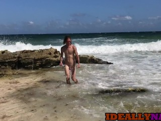 Fuck & Facial on a Hot Beach in Mexico – Naughty Nomads EP10 – IdeallyNaked