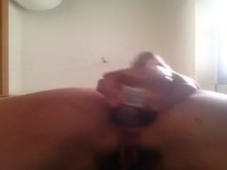 Deep anal masturbation