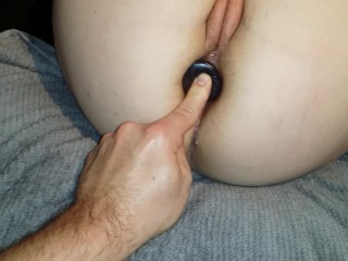 Two toys in ass