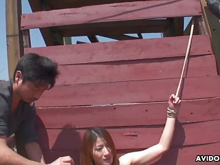 Japanese kinky chick, Kei Kitagawa is having mmf outdoors, u