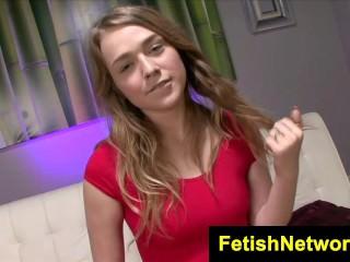 FetishNetwork Alaina Fox high heel nylon