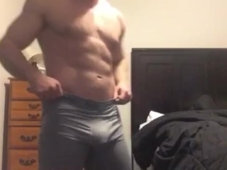 Sexy hunk in Compression Shorts