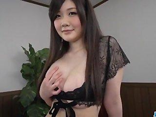 Rie Tachikawa, big tits Japanese, enjoys