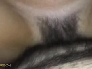 Creampie cute Hairy Sharon's Pussy