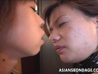 Asian slut has a hot time as she is waxed bds