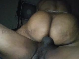 Ebony Redbone riding till Screaming orgasm (short&sweet)