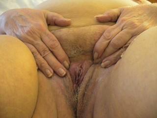 My SSBBW GF shows her protruding clit