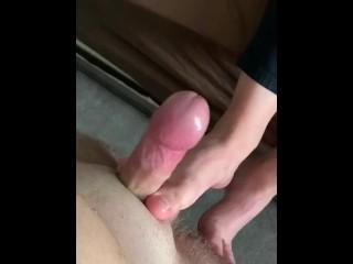 My Hot Teen Girlfriend's First Time Giving Footjob