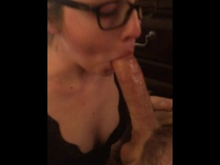 She came over for homework, ended up sucking me