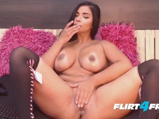 Hot Latina Ashely Doll Squirts From Her Creamy Pussy on Flirt4Free