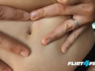 Pornstar and Flirt4Free Model Becky Lesabre Tickles Her Tummy and Pussy