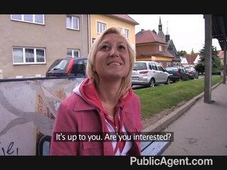 PublicAgent – Short haired blonde fucks