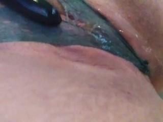 Pissing soaking panties