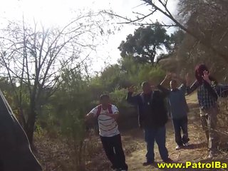 Rough Outdoor Fucking For Stunning Redhead Latina Babe