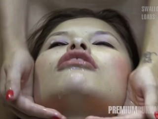 Premium Bukkake – Miyuki Son swallows 41 huge mouthful cumshots