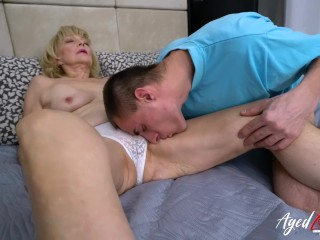 AgedLovE Granny Enjoys Attention of Horny Guy