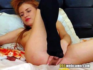 Lovely camgirl gets an orgasm on webcam