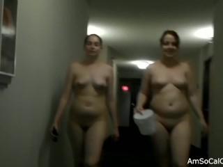Hotel Hallway Naked Dare