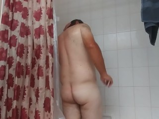 Pissing Masturbating Till I Cum Then Taking A Shower