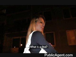 PublicAgent – Naughty blonde gets ass cumed