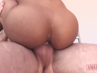 BLACK ANAL ENTHUSIAST KIRA NOIR FUCKED HARD AND PUMPED FULL OF CUM