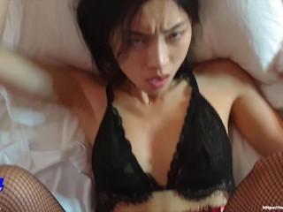 June Liu / SpicyGum – Bad Santa Fucking Hard an Innocent Asian Girl (short)